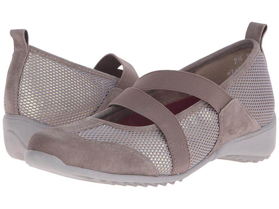 Munro American Zip Taupe Combo Womens Maryjane Shoes