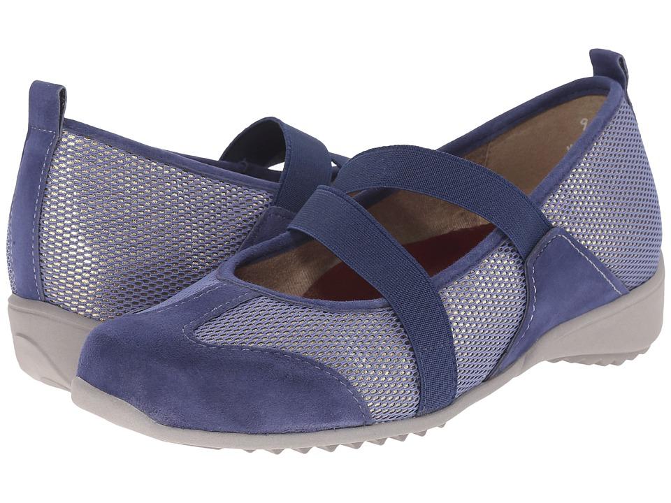 Munro American Zip Blue Combo Womens Maryjane Shoes