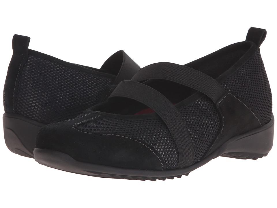Munro American Zip Black Combo Womens Maryjane Shoes