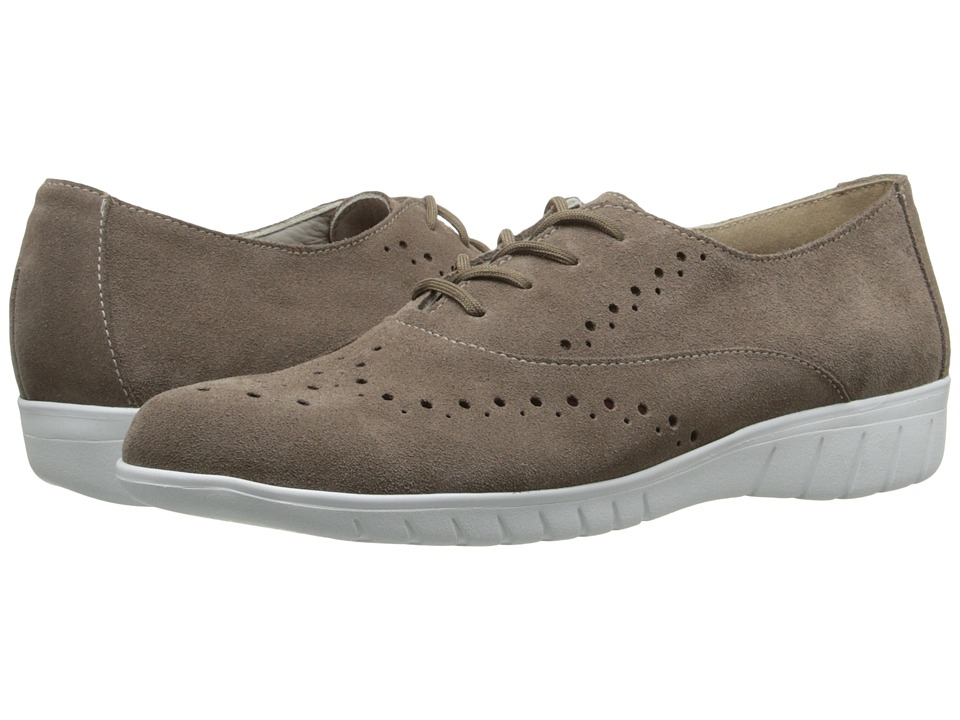 Munro American Wellesley Almond Suede Womens Lace up casual Shoes