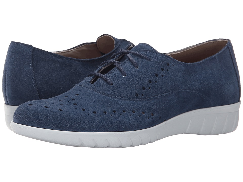 Munro American Wellesley Blue Suede Womens Lace up casual Shoes