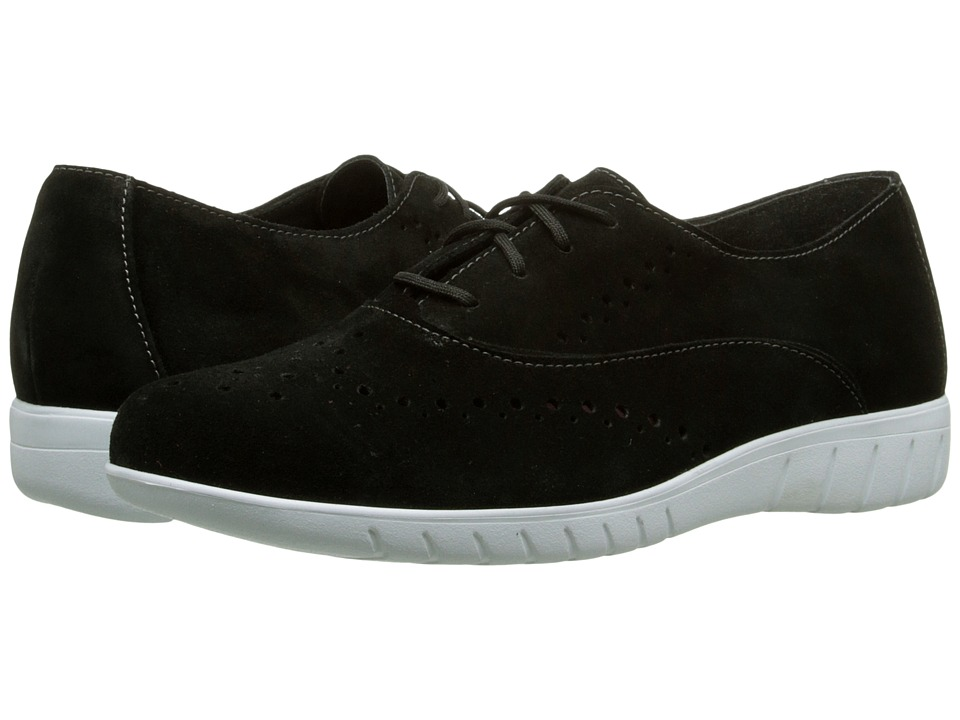 Munro American Wellesley Black Suede Womens Lace up casual Shoes
