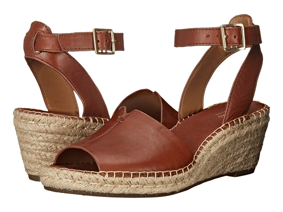 Clarks Petrina Selma Nutmeg Leather Womens Wedge Shoes