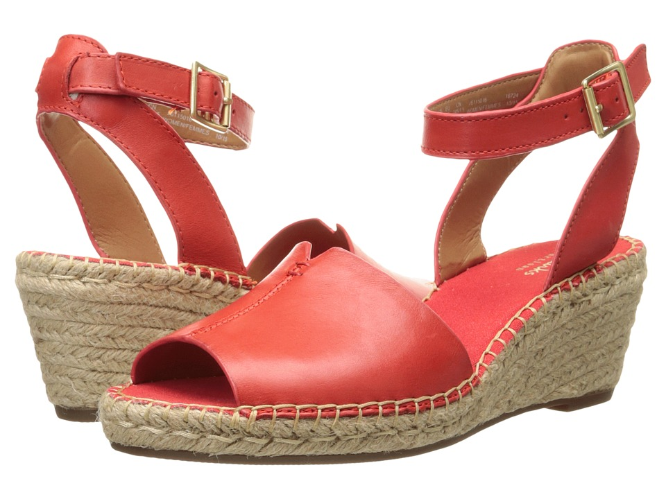 Clarks Petrina Selma Grenadine Leather Womens Wedge Shoes