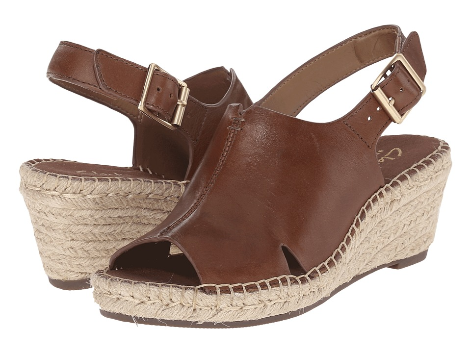Clarks Petrina Mera Nutmeg Leather Womens Wedge Shoes