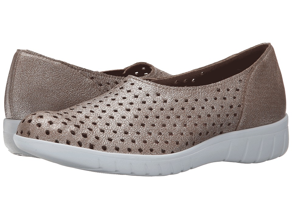 Munro American Skipper Platinum Fabric Womens Slip on Shoes