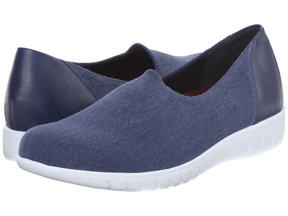 Munro American Yacht Jeans Stretch Canvas Womens Slip on Shoes