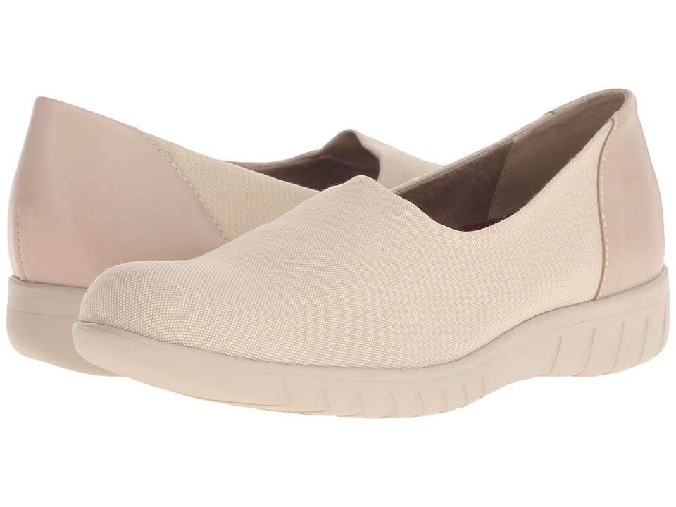 Munro American Yacht Coconut Stretch Canvas Womens Slip on Shoes