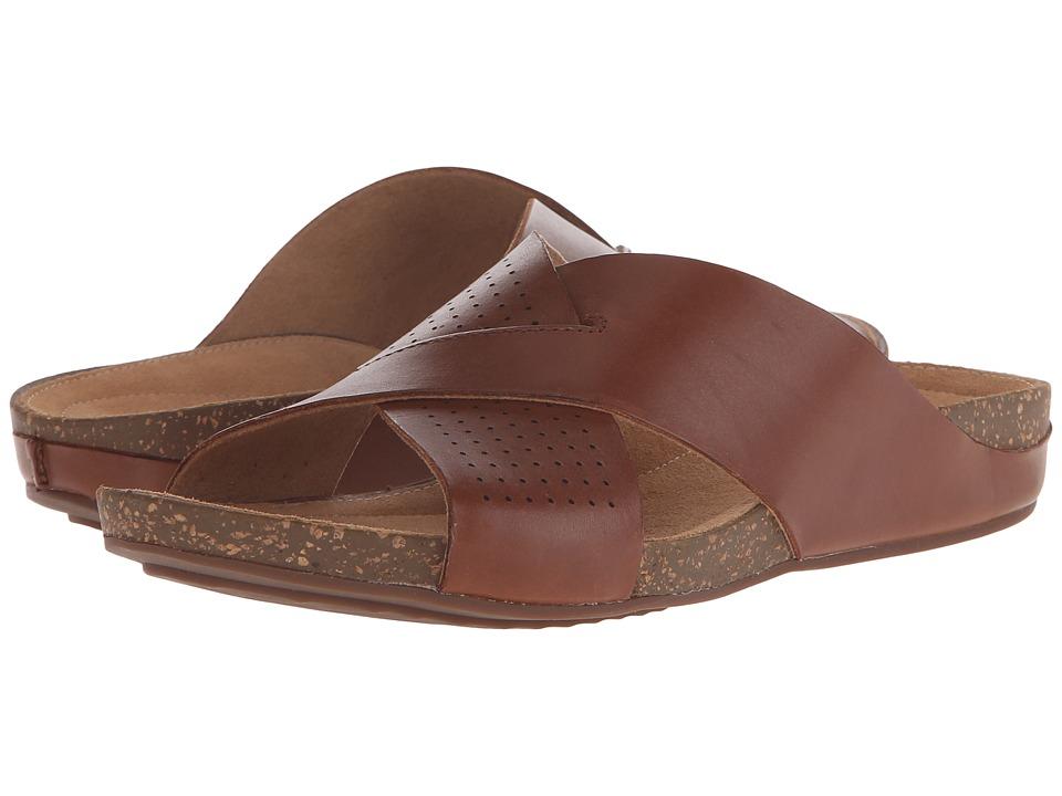 Clarks Perri Cove Dark Tan Leather Womens Sandals