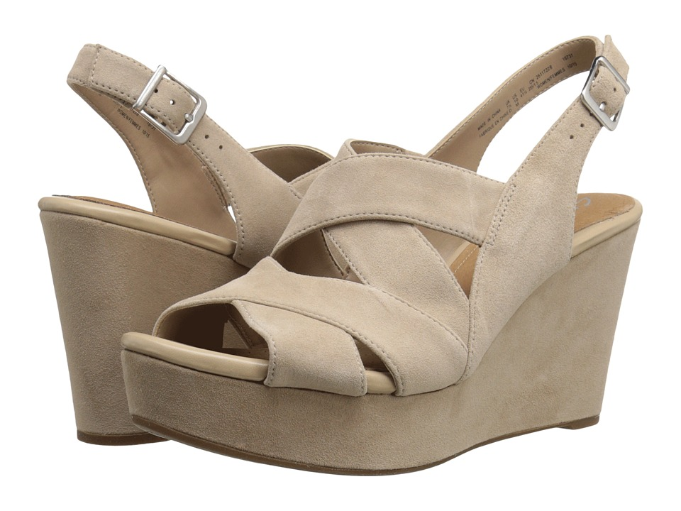 Clarks Amelia Alice Sand Suede Womens Shoes