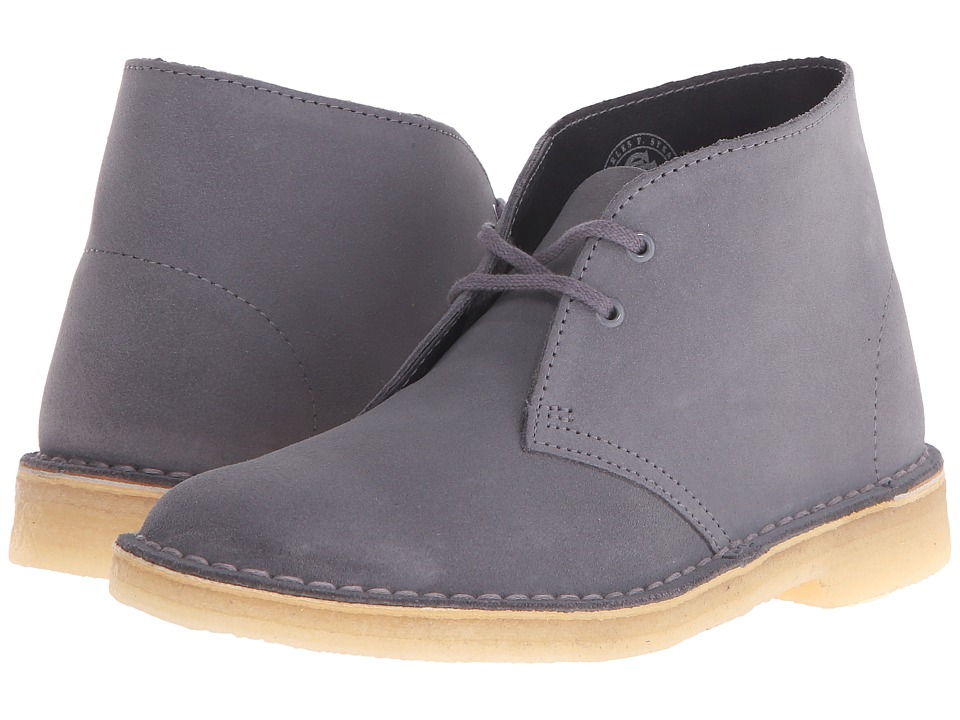 Clarks Desert Boot Blue/Grey Suede Womens Lace up Boots