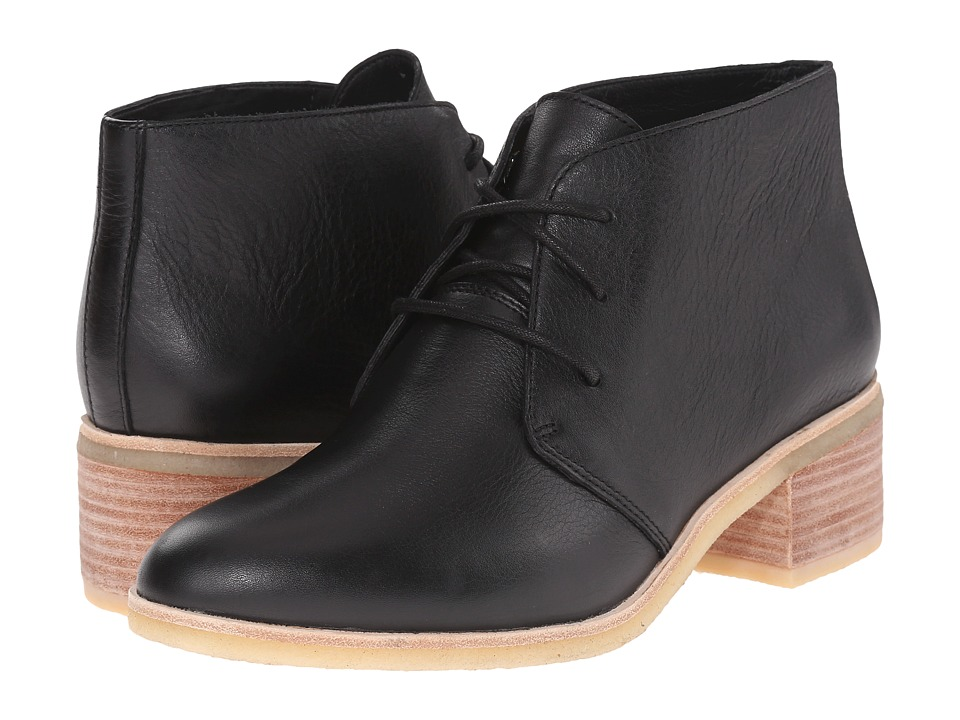 Clarks Phenia Carnaby Black Leather Womens Lace up Boots