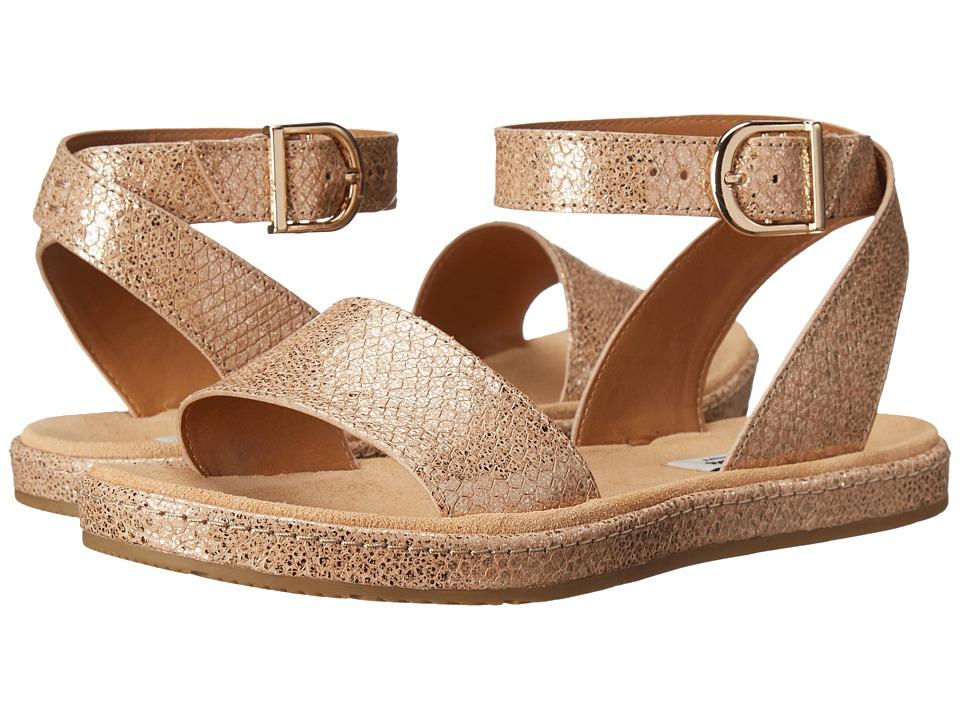 Clarks Romantic Moon Champagne Metallic Womens Sandals