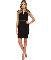 Calvin Klein - Cap Sleeve Belted Sheath Dress