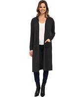 Allen Allen - Hooded Open Long Cardigan