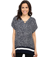 Adrianna Papell - Print Dolman Sleeve Trim Neck Top