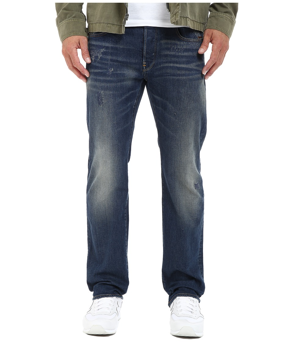 G Star Revend Straight Fit Jeans in Iros Stretch Denim Dark Aged Restored Iros Stretch Denim Dark Aged Restored Mens Jeans