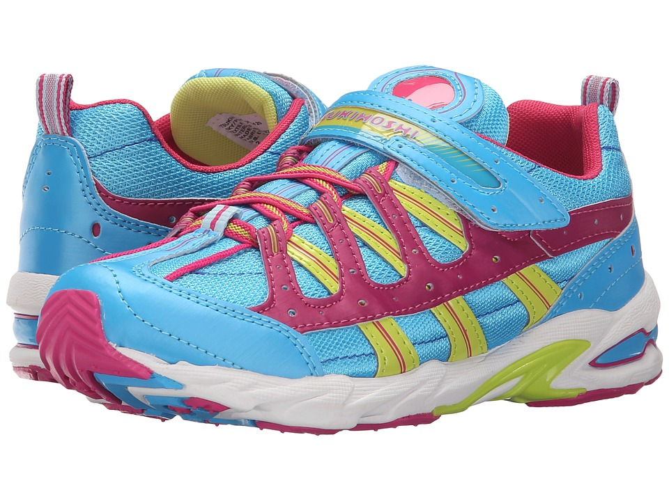 Tsukihoshi Kids - Speed (Little Kid/Big Kid) (Sky/Pink) Girls Shoes