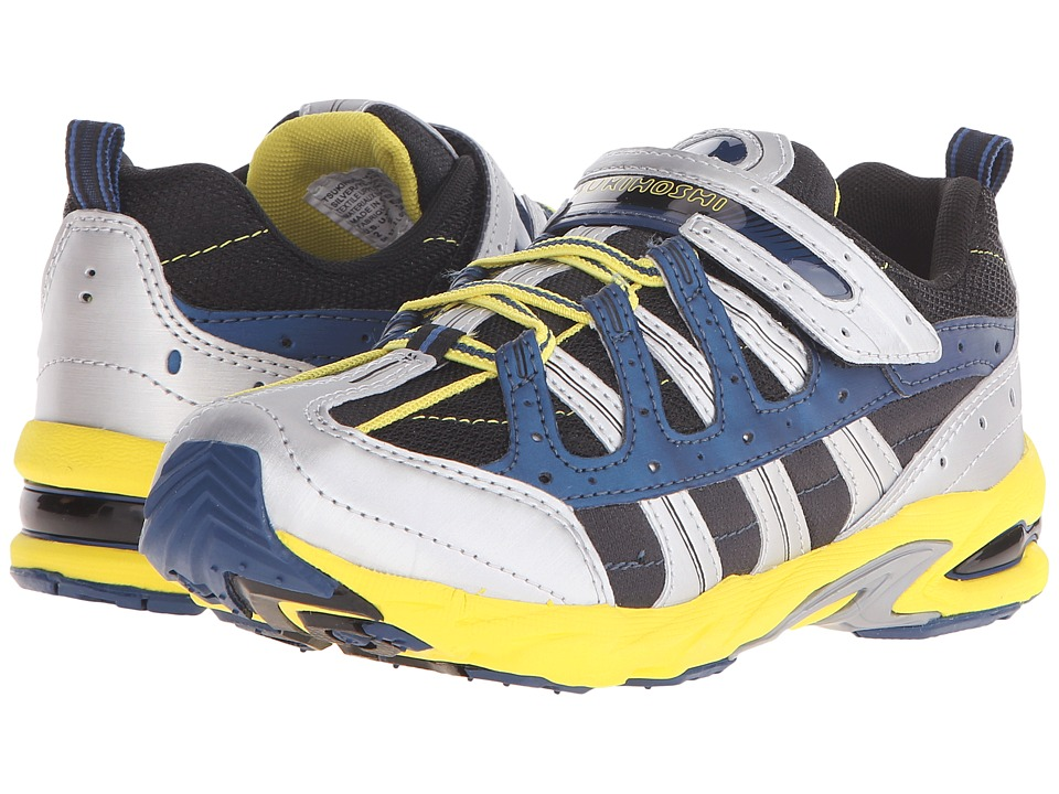 Tsukihoshi Kids - Speed (Little Kid/Big Kid) (Silver/Yellow) Boys Shoes