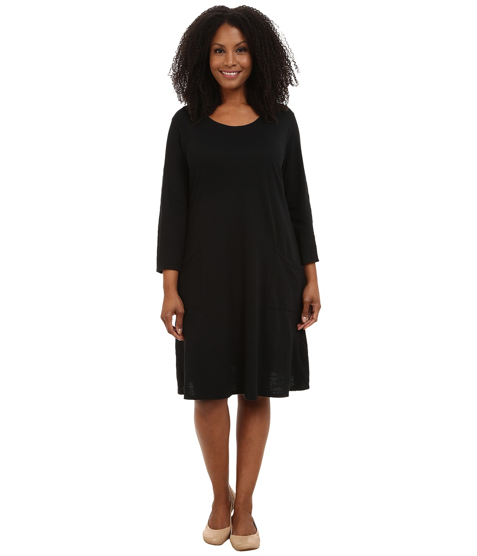 Extra Fresh by Fresh Produce - Plus Size Dalia Dress (Black) Womens Dress