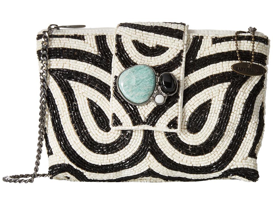 Mary Frances - Wonder Struck Mini (Black/White) Handbags