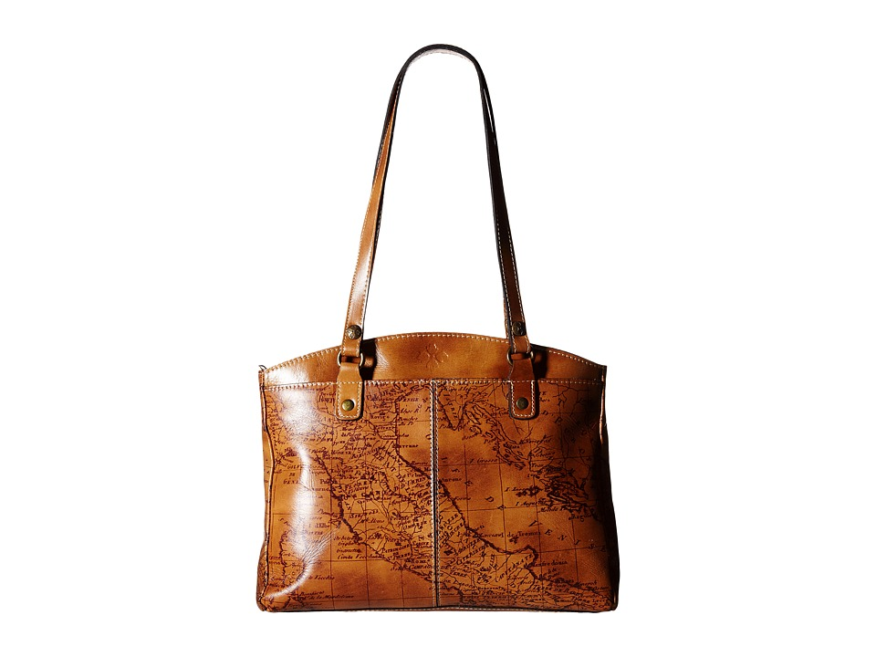 Patricia Nash - Signature Map Poppy Satchel (Riot Rust) Satchel Handbags