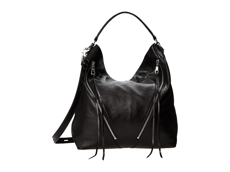 Rebecca Minkoff - Moto Hobo (Black) Hobo Handbags
