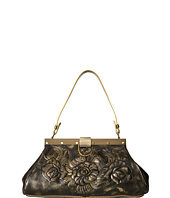 Patricia Nash - Metallic Rose Tooled Ferrara Frame Satchel