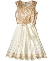 Us Angels - Sequin Chiffon Sleeveless Dress w/ Pleated Full Skirt (Big Kids)