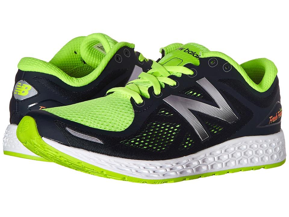 New Balance Fresh Foam Zante V2 Black/Green Mens Running Shoes