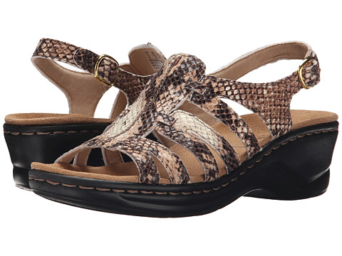 Clarks Lexi Marigold Q - Beige Synthetic Snake