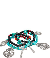 Gypsy SOULE - Heart & Cross Set of 4 Stretch Bracelets