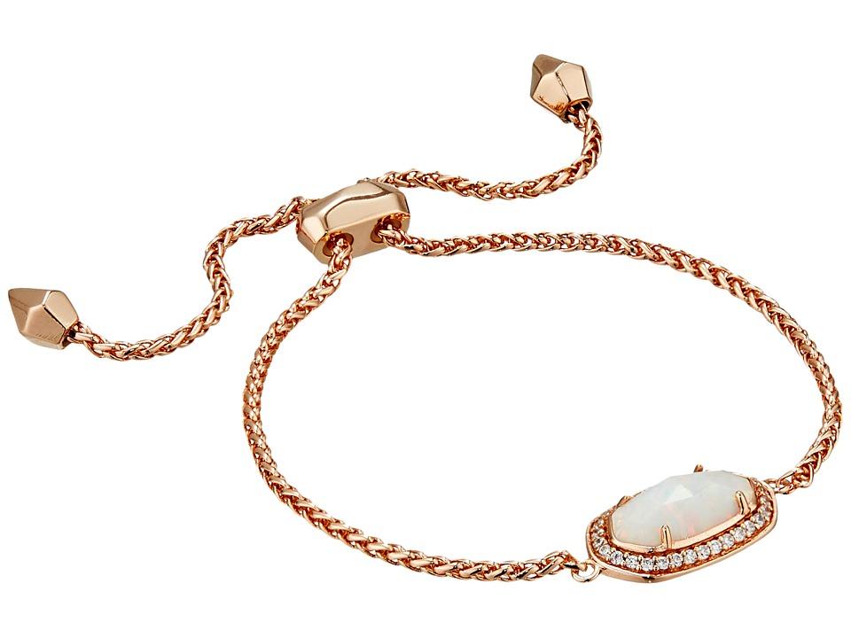 Kendra Scott Eve Bracelet Rose Gold/White Kyocera Opal Bracelet