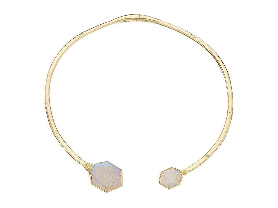 Kendra Scott Coursen Necklace Gold/Iridescent Drusy Necklace