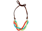 Gypsy SOULE - Leather Bead Necklace (Turquoise/Lime/Orange)