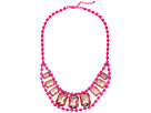 Gypsy SOULE - Centered Crystals Necklace (Neon Pink)