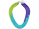 Gypsy SOULE - Beaded Statement Necklace (Lime/Turquoise/Purple)