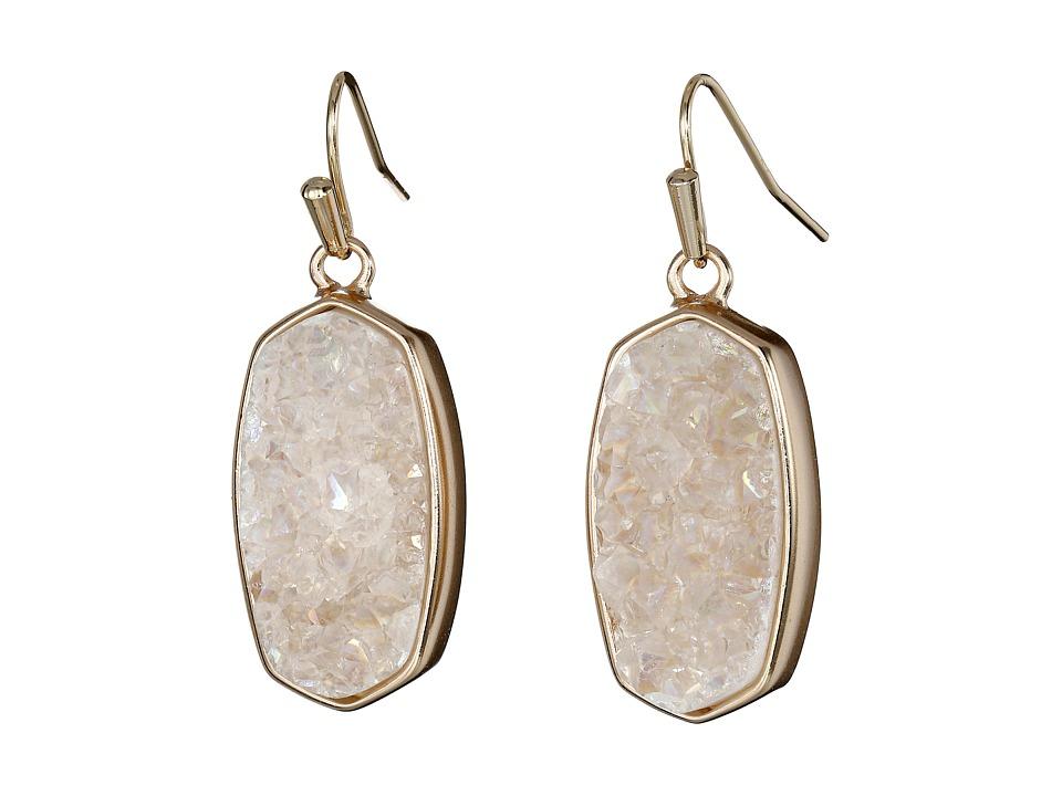 Kendra Scott Danay Earrings Rose Gold/Iridescent Crystalized Drusy Earring
