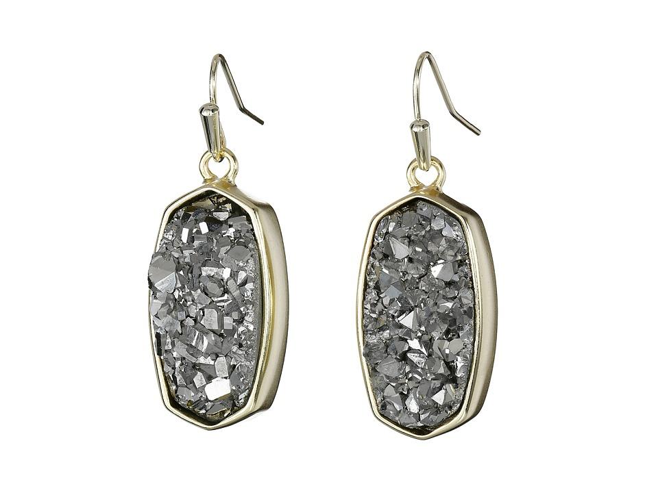Kendra Scott Danay Earrings Gold/Platinum Crystalized Drusy Earring