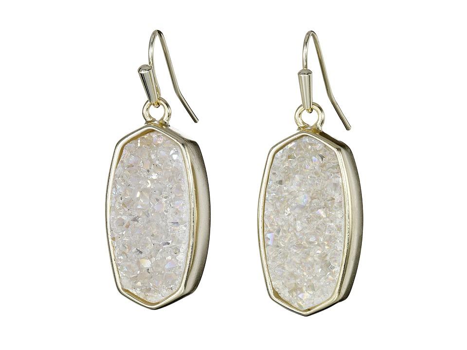 Kendra Scott Danay Earrings Gold/Iridescent Crystalized Drusy Earring