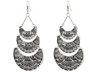 Gypsy SOULE - Aztec Etched Tiered Earrings (Silver)