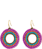 Gypsy SOULE - Seed Bead Circle Drop Earrings