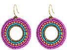 Gypsy SOULE Seed Bead Circle Drop Earrings (Purple)