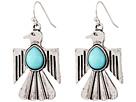 Gypsy SOULE Thunderbird Drop Earrings (Silver/Turquoise)