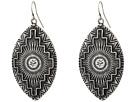 Gypsy SOULE Aztec Etched Tear Drop Earrings (Silver)