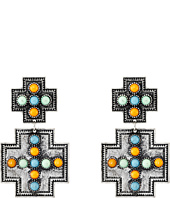 Gypsy SOULE - Square Cross w/ Stones Earrings