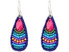 Gypsy SOULE Stone Bead Teardrop Earrings (Blue/Turquoise/Purple)