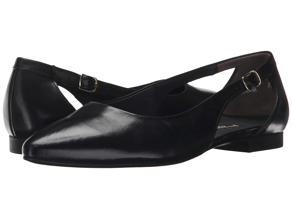 Paul Green Beckett Black Leather Womens Flat Shoes