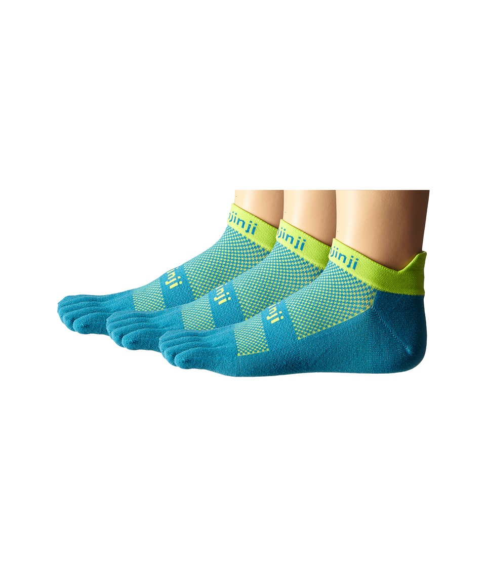 Injinji Run Lightweight No Show 3 Pack Electric Blue No Show Socks Shoes