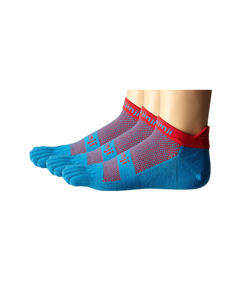 Injinji Run Lightweight No Show 3-Pack (Superhero) No Sho...